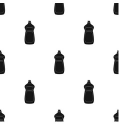Dishwashing soap icon in black style isolated on vector