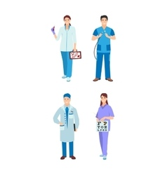 Doctor character isolated vector