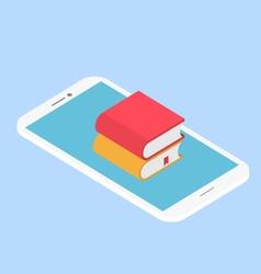 E-book mobile vector