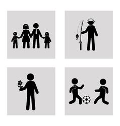 Family design over white background vector