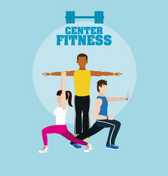 Fitness center banner vector