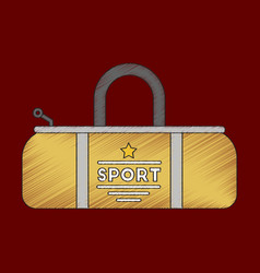Flat shading style icon sports bag vector