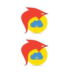 Fox cloud download and upload icons vector