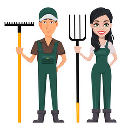gardeners man and woman vector image