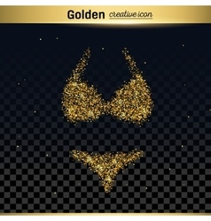 Gold glitter icon vector