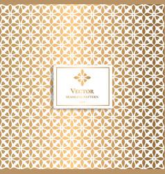 Golden geometric pattern minimal pattern vector