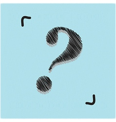 Hand drawn question mark doodles vector