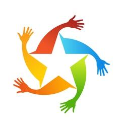 Hand Stars Logo vector image