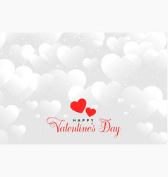 Hearts cloud background for valentines day design vector