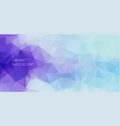 Horizontal abstract polygonal banner vector