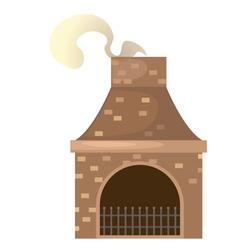 House brick chimney vector