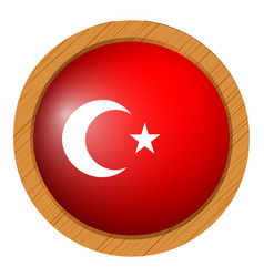 icon design for flag of turkey vector image