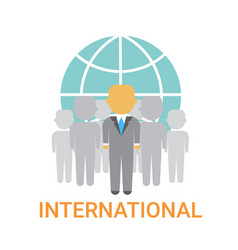 International businesspeople team cooperation vector