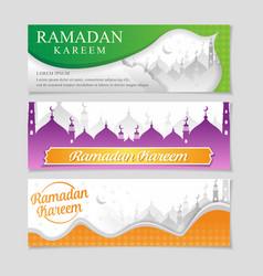 Islamic ramadan background design banner ramadhan vector