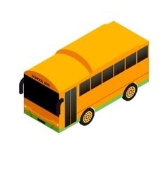 Isometric school bus vector