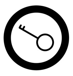 key black icon in circle isolated vector image