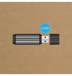 Login button for user interface vector