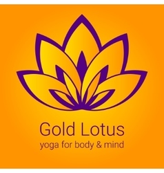 Lotus flower as a symbol of yoga vector image