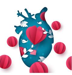 love balloon landscape medical heart vector image