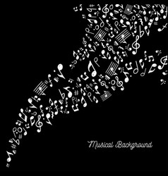 music background in black and white vector image