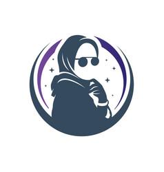 muslim hijab fashion logo vector image