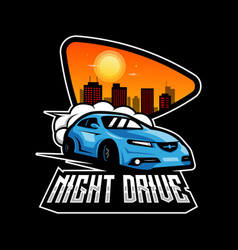 Night drive vector