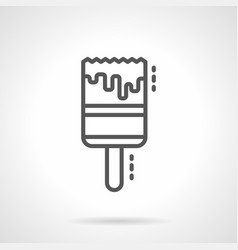 paint brush simple black line icon vector image