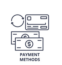 payment methods line icon concept payment methods vector image