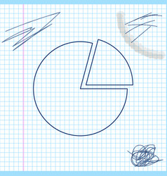 pie chart infographic line sketch icon isolated vector image