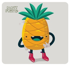 Pinapple character isolated vector