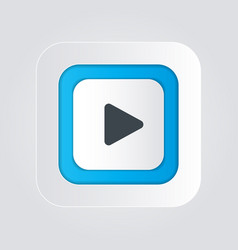 Play button icon with a white background vector