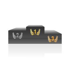 podium vector illustration vector image