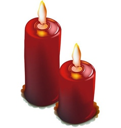Red Christmas Candles vector