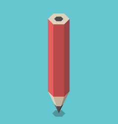 red isometric pencil standing vector image