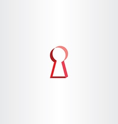 red key lock hole icon vector image