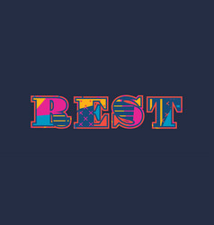 Rest concept word art vector