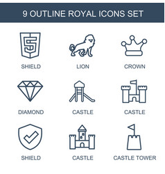 royal icons vector image