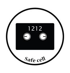 Safe cell icon vector image