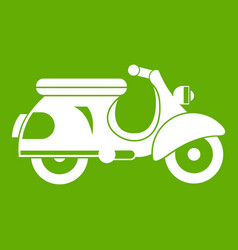 Scooter icon green vector