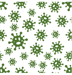 seamless background virus molecules bacteria vector image