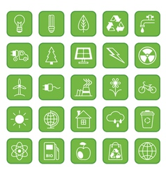 Set of flat icons Ecology and Environment vector