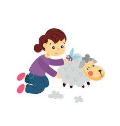 sheep cutting vector image
