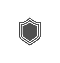 shield simple icon protection or security sign vector image