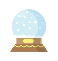 Snow Globe isolated on white background vector