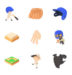 sport game icons set cartoon style vector image