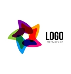 Star logo template layout Abstract vector image