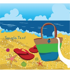 Summer background with sea creatures vector