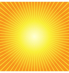 sunburst yellow orange background vector image