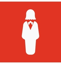 The business woman icon Avatar and user girl vector image