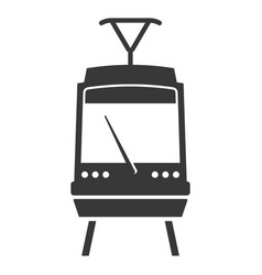 train black icon electric subway platform symbol vector image